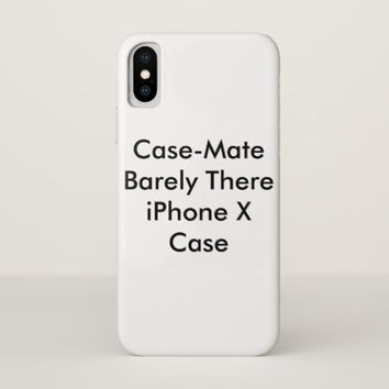 Personalized Case-Mate Barely There iPhone X Case