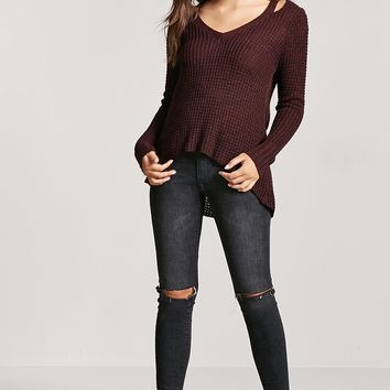 Heathered High-Low Sweater