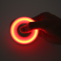 LED Light Hand Finger Spinner Fidget Plastic EDC Hand Spinner For Autism Relief