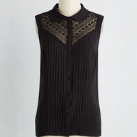Winsome in the Willows Sleeveless Top in Black