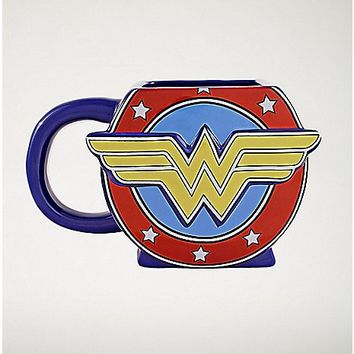 Molded Wonder Woman Coffee Mug 20 oz. - DC Comics - Spencer's