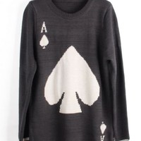 A long-sleeved pullover sweater Spades JCFE