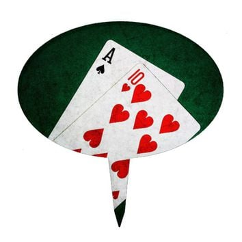 Blackjack 21 point - Ace, Ten Cake Topper