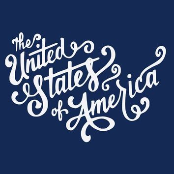 The United States of America USA Patriotic July Typography Independence Vinyl Wall Decal