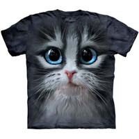 CUTIE PIE KITTEN Face The Mountain Big Eyes Cat T-Shirt S-5XL NEW