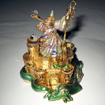 Kirks Folly  Merlins Magic Wizards Castle Green by VampsVintage