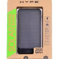 Hype 2500mAh Solar Power Bank for Mobile Devices - Charge By Sunlight or USB Port
