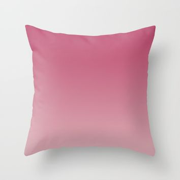 Soft Rose Ombre (Reverse) Throw Pillow by Lindsay