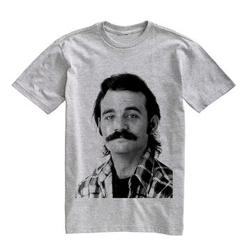 Bill Murray Tee Shirt T-Shirt Unisex Gray Size S,M,L,XL