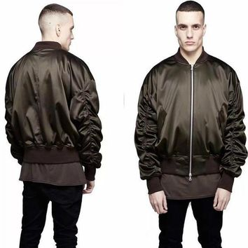 Cool Exclusive Newest Ma1 Bomber Jacket 2017 Fashion Men Military Style Solid Color Represent Hip Hop Flight Jackets
