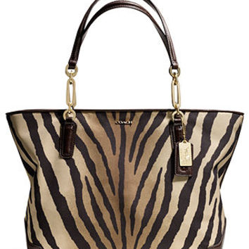 COACH MADISON EAST/WEST TOTE IN ZEBRA PRINT FABRIC - COACH - Handbags & Accessories - Macy's