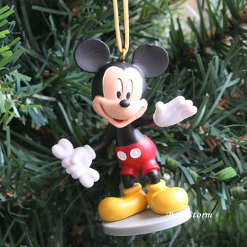 Licensed cool Custom Disney Mickey Mouse with Bone for Pluto Christmas Ornament PVC Figure NEW