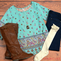 The Mint Paisley Fashion Outfit