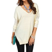 SALE-Ivory Dolman Knit Sweater