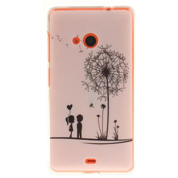 Coque For Nokia Lumia 535 N535 Hot Sale TPU Slim Silicone Soft Cell Phone Cover Cases New Arrival Fashion IMD mobile phone shell