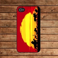 iphone 4 case,iphone 4s case--Lion King Silhouette,in plastic