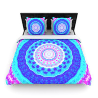 "Iris Lehnhardt ""Summer Colors"" Pink Blue Woven Duvet Cover"