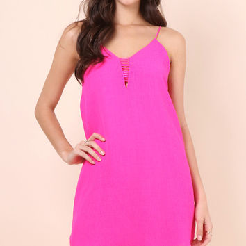 Bianca Breeze On By Dress - Hot Pink