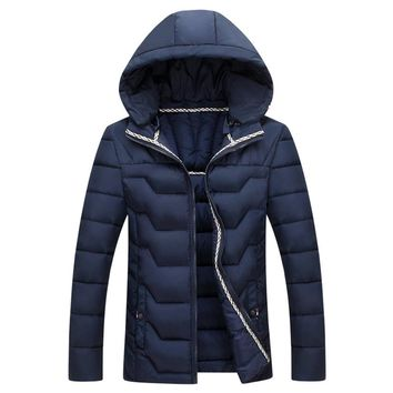 The Banff Geo Puffer Coat Navy
