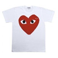 Red Play T-Shirt (White) | Play | Comme Des Garçons
