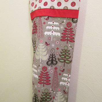 Eco Friendly Christmas Kitchen Decor, Grocery Bag Holder, Plastic Bag Holder, Shopping Bag Holder, Bag Sleeve, Recycle, Reuse