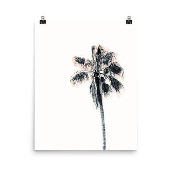 palm tree wall art, tropical print, minimal decor, tropical gifts, palm print, poster 8x10, palm beach, poster 16x20, tropical art
