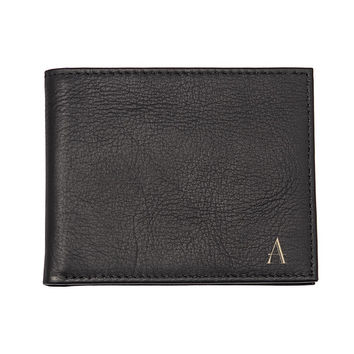 Personalized Black Bi-Fold Wallet with Multi-function Tool