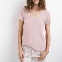 BAY COTTON SLUB SCOOP NECK