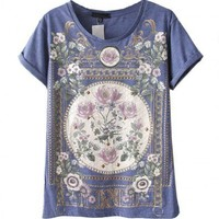 Premium Baroque T-Shirt with Rolled Cuffs
