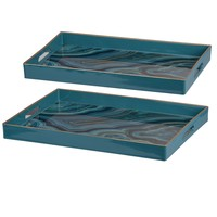 Blue Decorative Tray