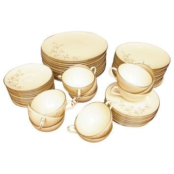 Pre-owned Mid-century Lenox Wyndcrest China Set