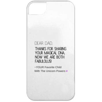 Funny Father's Day Gift For Dad From Wife, Daughter, Son, Stepdaughter, Stepson, Mom, Grandma, Mother In Law (9 dna unicorn dad iPhone 5 Case)