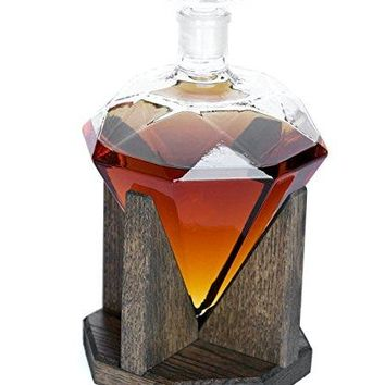 Diamond Liquor Decanter – Scotch Whiskey Decanter - 1000ml