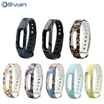 Ollivan Xiaomi mi band 1S Strap For Xiaomi Mi Band 1S & 1A smart wristbands Bracelet strap fitness tracker for mi band 1 strap