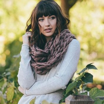 Super Soft Chunky Infinity Scarf - Copper