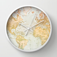 Pastel World Wall Clock by Sandy Broenimann