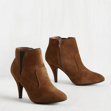 All You Had to Do Was Sass Bootie in Cognac | Mod Retro Vintage Boots | ModCloth.com
