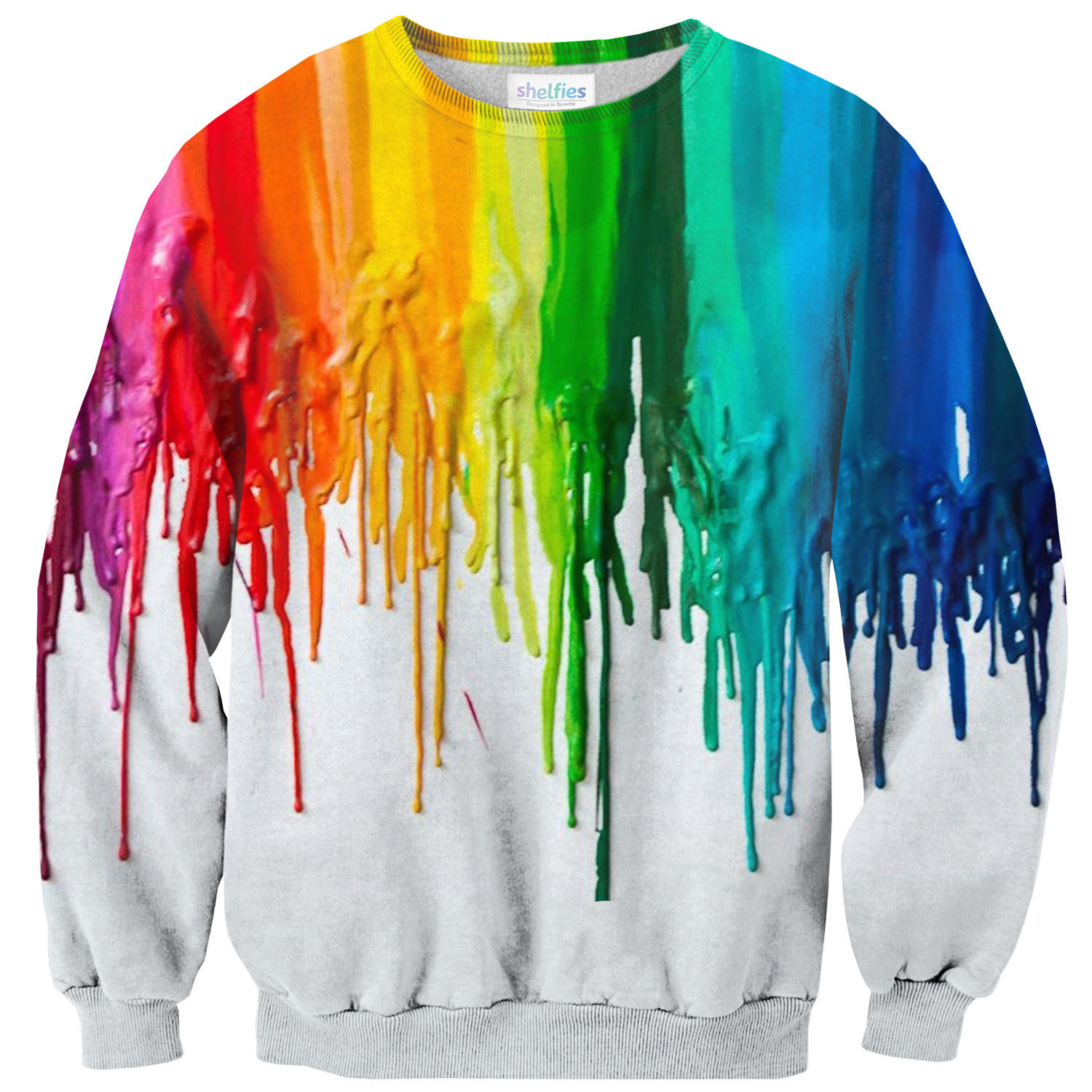Melted Crayon Sweater From Shelfies Sweaters