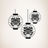 Vinyl Wall Decal Sticker Japanese Lanterns #OS_MG298