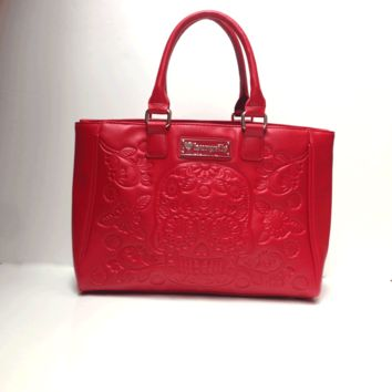Loungefly – Embossed Sugar Skull Bag In Red PU | Thirteen Vintage