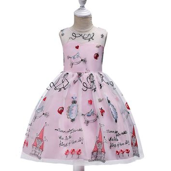 Baby Girl Dress Children Kids Dresses For Teens Girls 9 10 12 14 Year Birthday Outfits Dresses Girls Evening Party Formal Wear