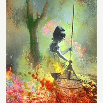 Gathering Fallen Rainbows 8x10 archival by ImagineStudio on Etsy