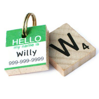 HELLO My Name Is - Scrabble Pet ID Tag - Dog Tag - Cat Tag