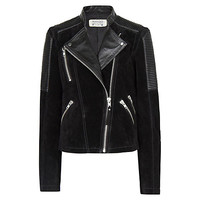 Buy Mango Combi Leather Biker Jacket online at John Lewis
