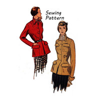 "Simplicity 3099 Woman's Fitted Jacket with Patch Pockets Sewing Pattern Size 14 Bust 32""/ 81 cm 