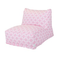 Printed Bean Bag Lounge Chair - Links - Soft Pink