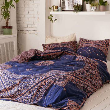 Celestial Foiled Duvet Cover - Urban Outfitters