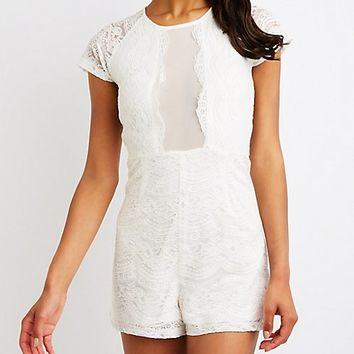 Floral Lace Romper | Charlotte Russe