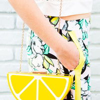 Lemon Hard Candy Clutch