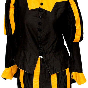 1930s Small Costume Renaissance Faire Shakespeare Historical Elizabethian Commedia Dell'arte Ren Fair Theater Opera Costume Globe Jester